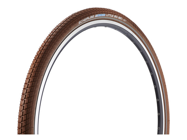 "SCHWALBE Little Big Ben Bike Tyre Active 28"" Twin, wire bead brown"
